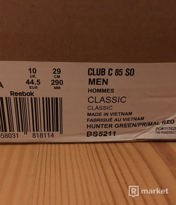 reebok classic club c 85