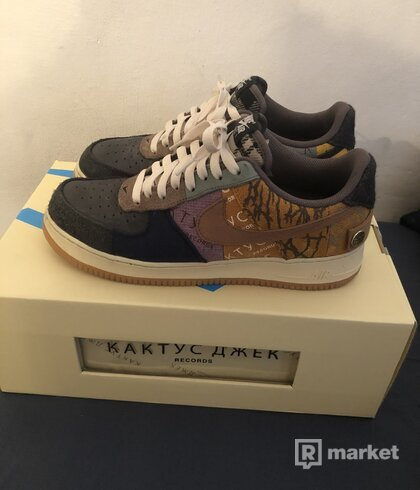 Nike Air Force 1 Travis Scott Cactus Jack Fossil