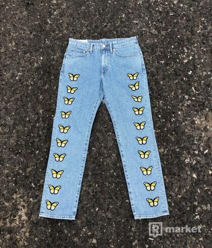 Custom butterfly jeans