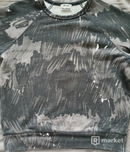 Acne Studios College Marker Camo Sweatshirt