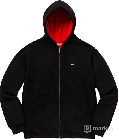 Supreme Contrast Zip Up Hooded Sweatshirt