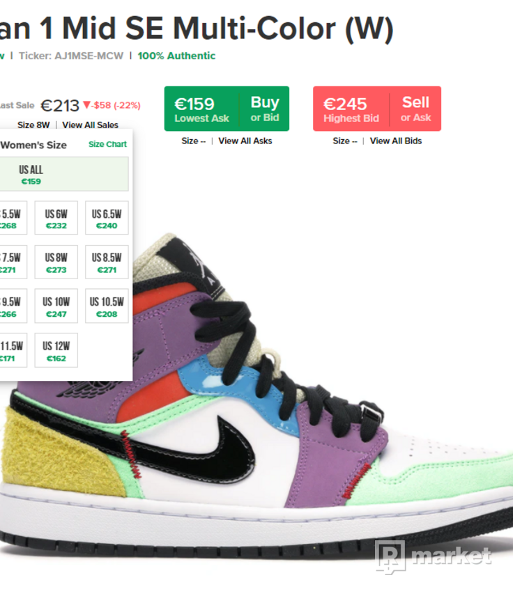Jordan 1 Mid SE Multi-Color (W)