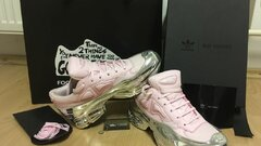 Adidas x Raf Simons Pink & Metallic Silver