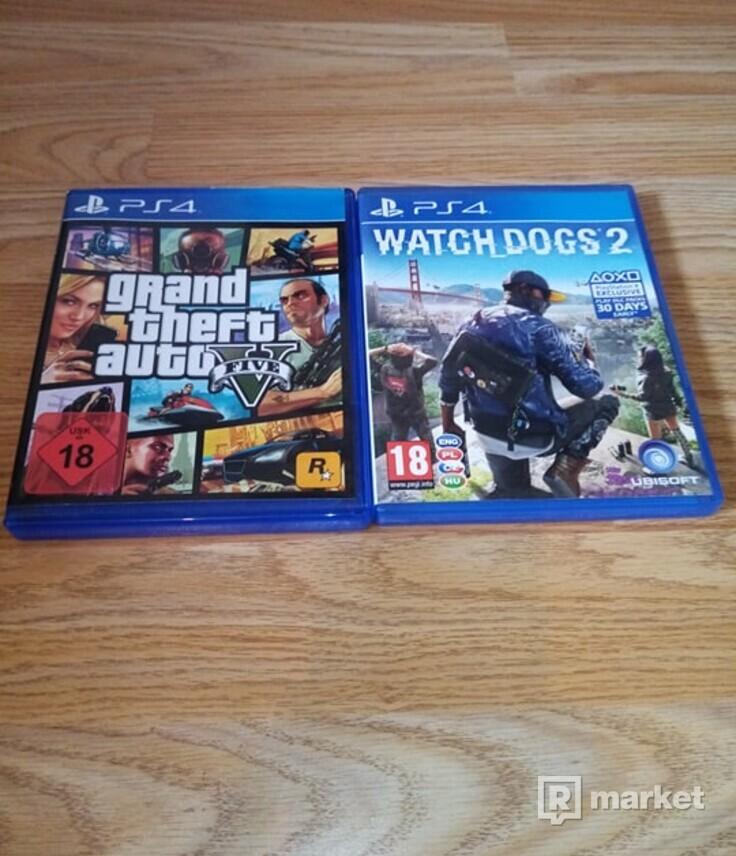Playstation 4 Slim 1TB + Gta 5, Watch Dogs 2
