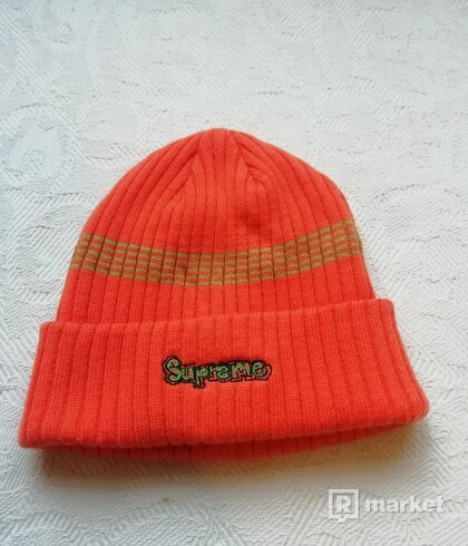 Supreme Orange beanie