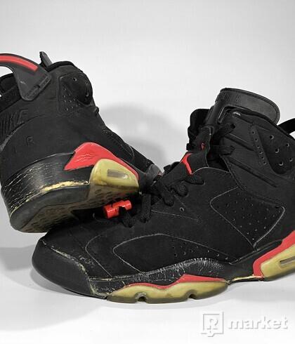 """(2000) Air Jordan Retro 6 OG """"Black Infrared"""""""