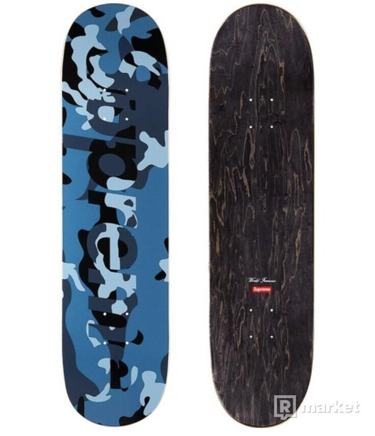 Supreme Camo Logo Skateboard