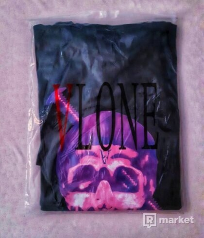 Vlone Screwhead Purple Skull Tee