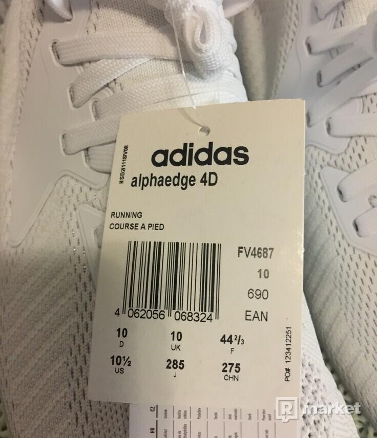 Adidas Alphaedge 4D velikost 44 2/3 bílé