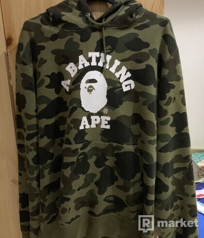 bape 1st camo hoodie