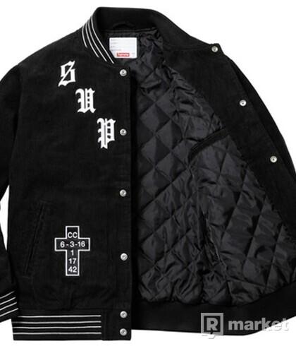 Supreme Old English Corduroy Varsity Jacket