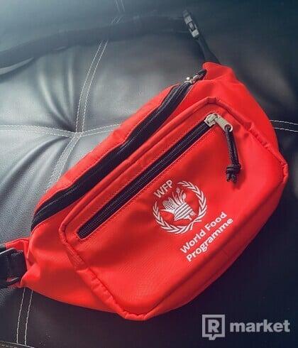 Balenciaga word food programe waist bag