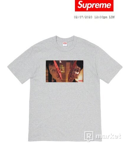 Supreme Split Tee Heather Grey - SS20