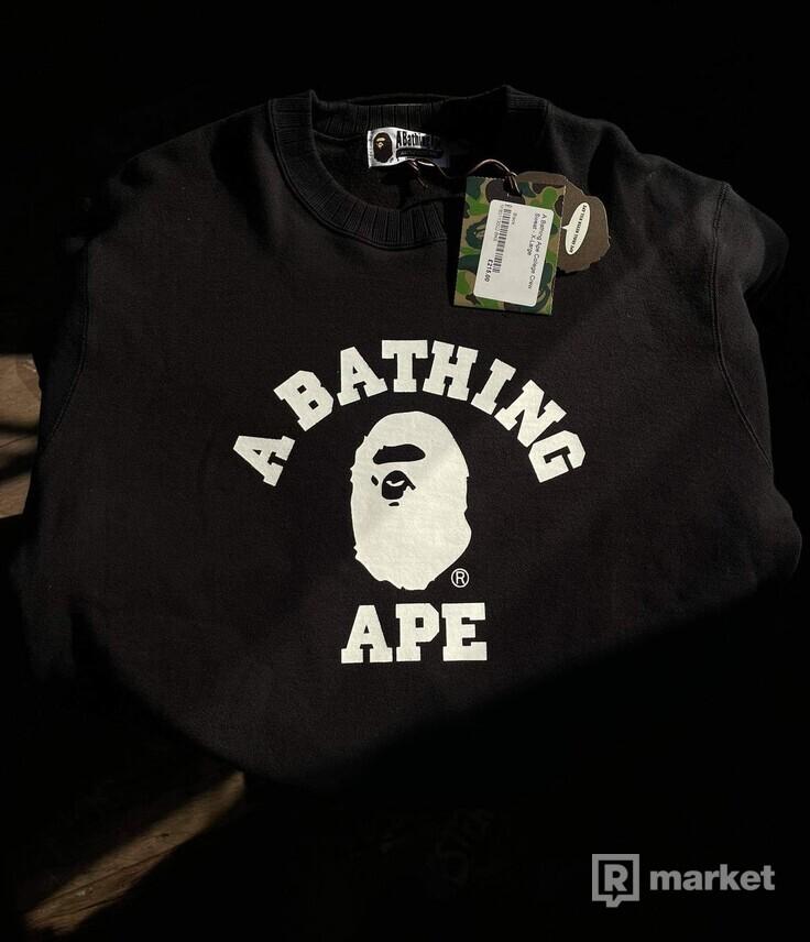 A bathing ape college crew sweat