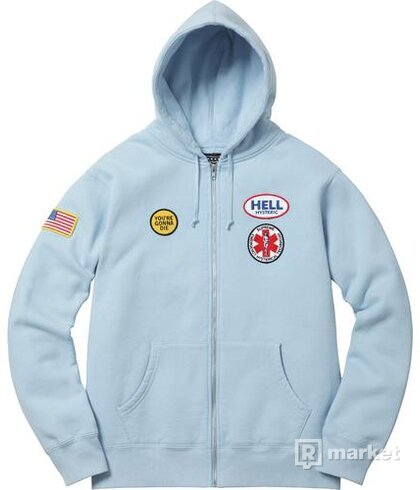 Supreme x Hysteric Glamour Patches  Zip Up Sweatshirt