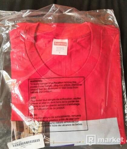 Supreme Banner Tee - Red , veľkosť L