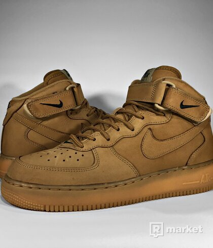 "Nike Air Force 1 Mid ""Flax"" 2014"