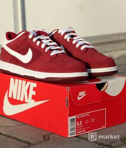 "Nike Dunk Low ""Team Red/White"" - US8.5"