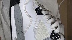 nike air jordan 4 white cement (gs)