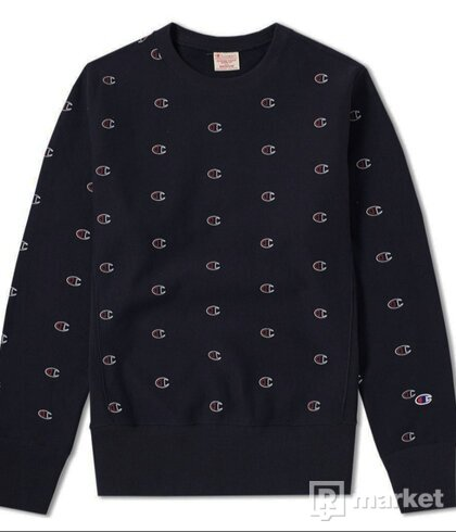 Reverse Weave Crewneck All Over C Print