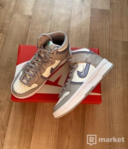 Nike Dunk High Up Rebel - Iron  purple wmns 40.5