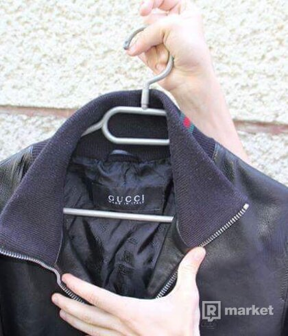 Gucci kožená leather bunda