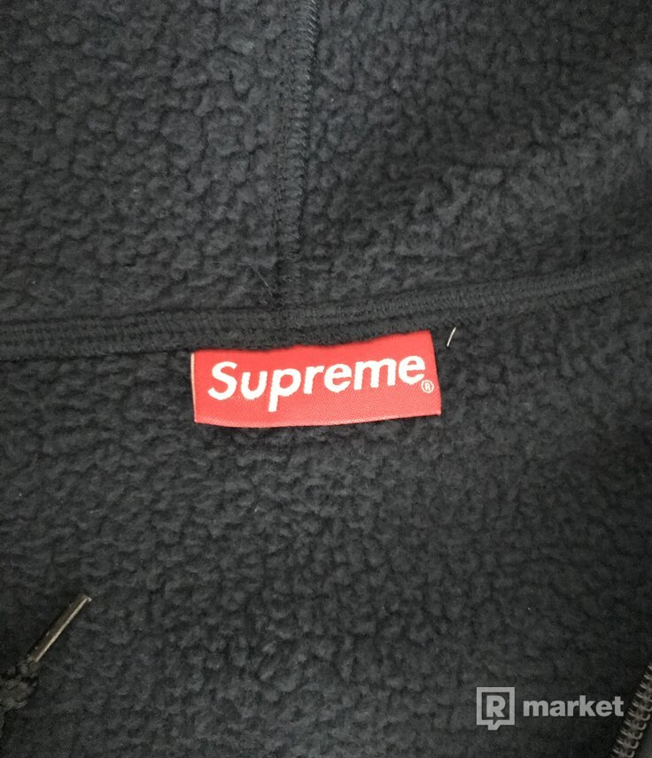 Supreme Small Box Windstopper Zip Up Hooded Sweatshirt Navy M