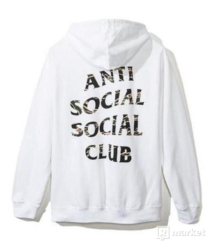 Anti Social Social Club Hoodie White/Camo