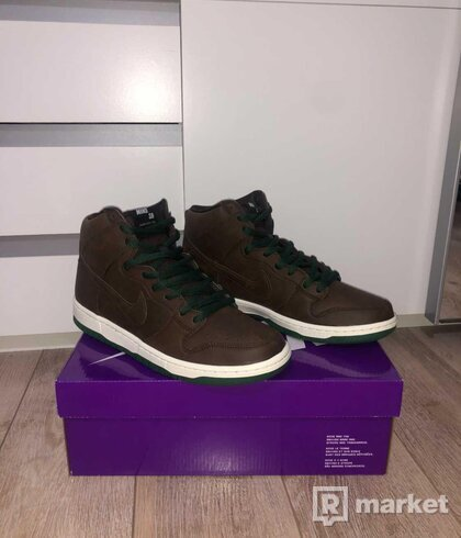Nike SB Dunk High Baroque Brown Vegan Leather