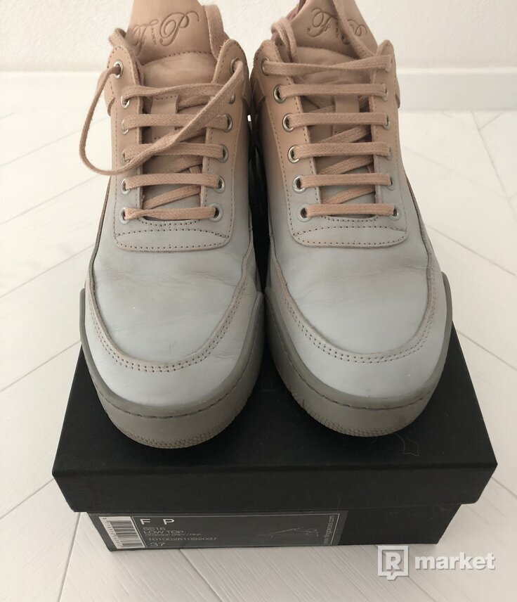 FILLING PIECES LOW TOP SNEAKERS - DEGRADE GREY/ PINK