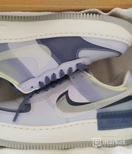 Nike W Air Force 1 Shadow SE Ghost/ Summit White-World Indigo