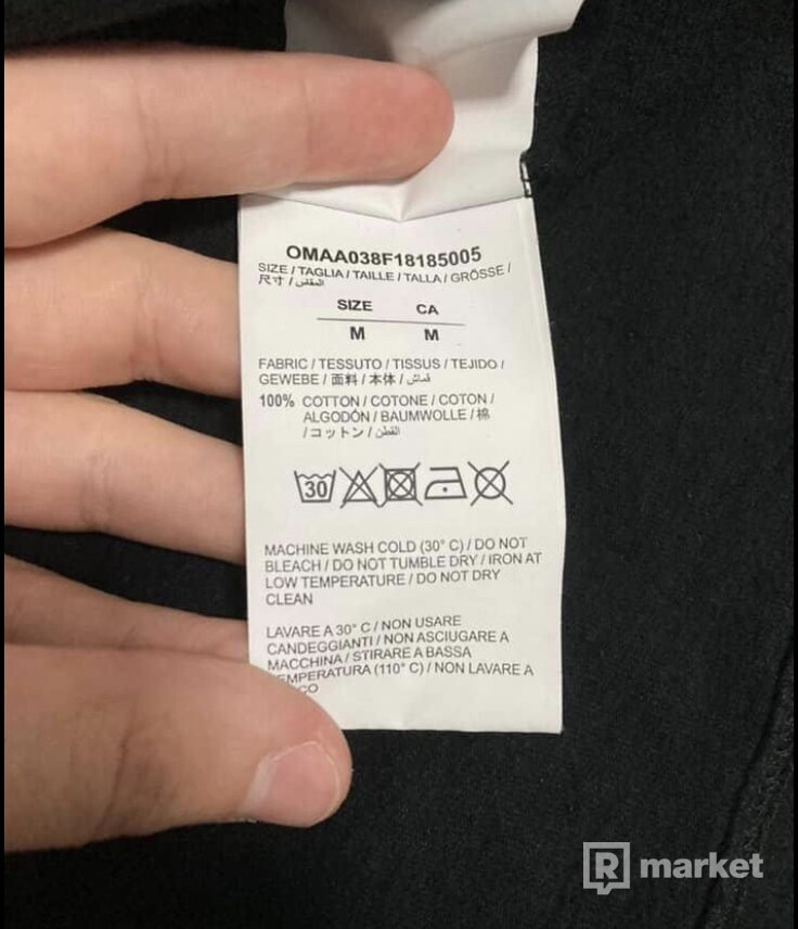 WTS Off White Gardient tee