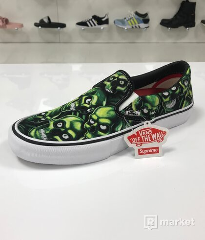 Supreme x Vans Slip on Skull Pile
