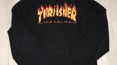 Thrasher flame logo mikina