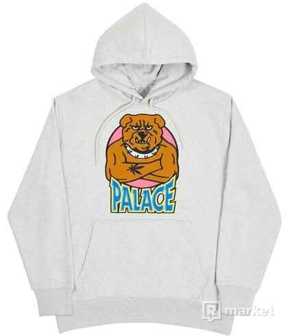 PALACE BULLDOG HOOD GREY MARL