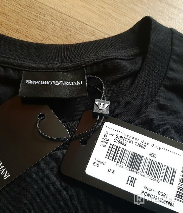 tričko Emporio Armani - EAGLE BRAND, černé, 1150 Kč