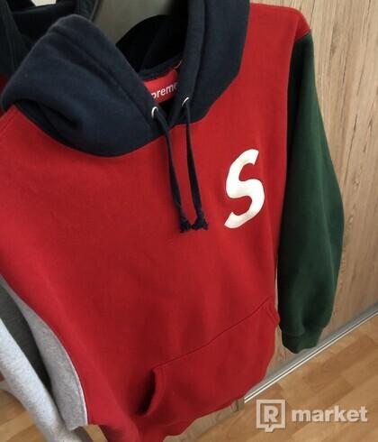 Supreme S/s 19 S logo hoodie