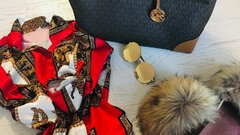 Michael Kors shopper bag +clutch
