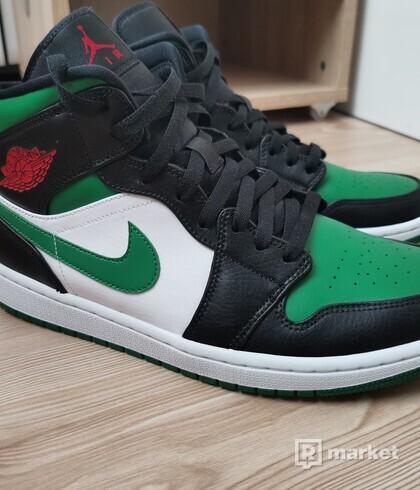 Nike Jordan 1 Mid Green Toe