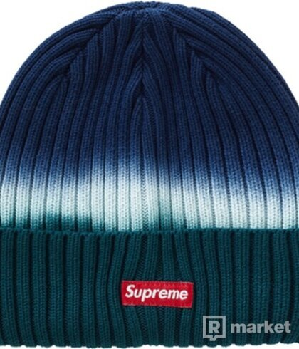 Supreme overdyed beanie teal tdye TOP STAV