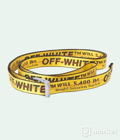 Off white belt yellow black