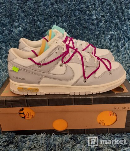 Nike Dunk low off-white Lot 21