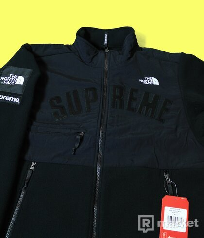 Supreme x The North Face fleece Arc logo black