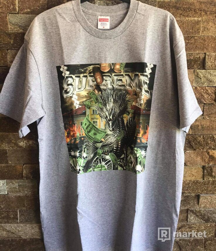 Supreme fragon tee gray
