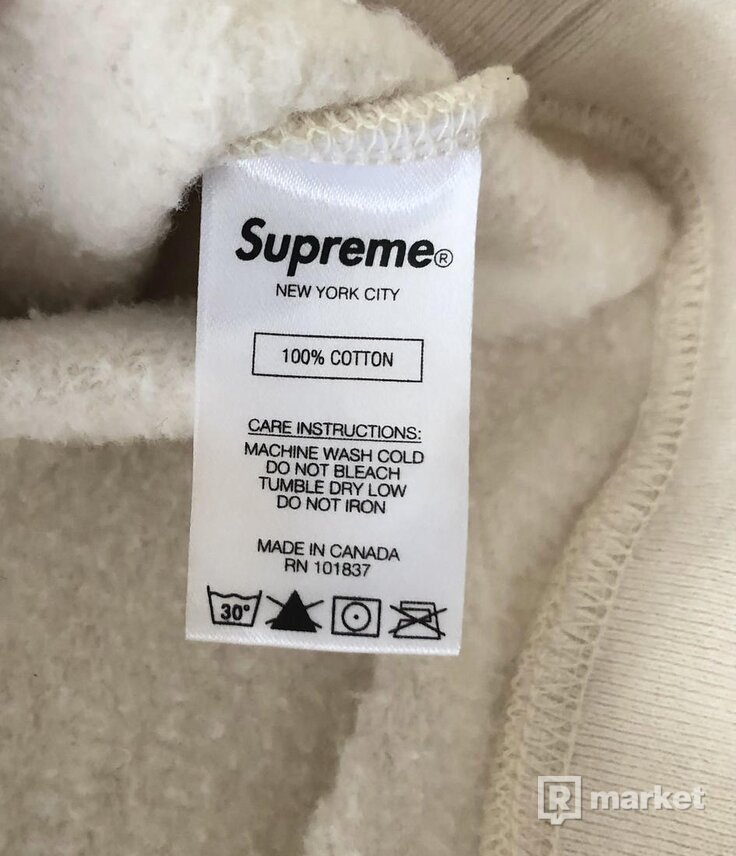 Supreme Crossover Hooded Sweatshirt Natural