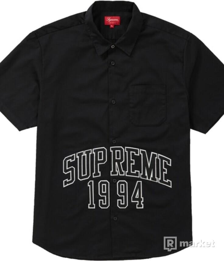 WTS / WTT Supreme Arc Logo S/S Work Shirt Black