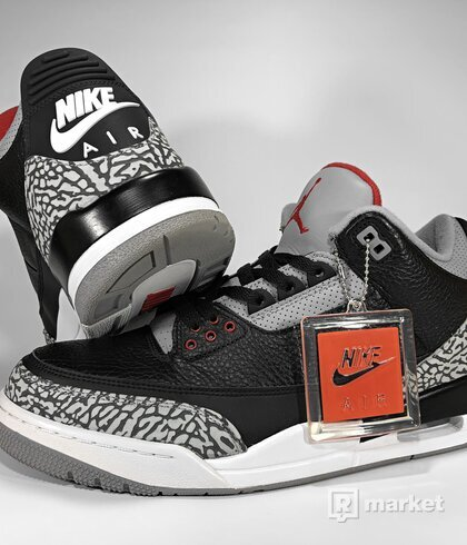 "Air Jordan Retro 3 OG ""Black Cement"""
