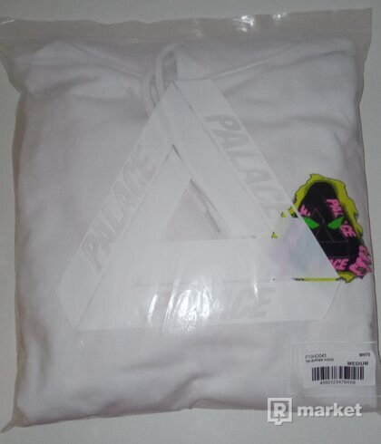 Palace Tri-Ripper Hoodie White