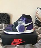 AJ1 court purple