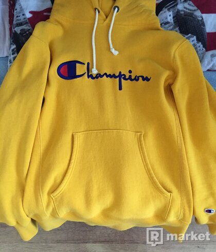 Champion Reverse Weave Yellow Hoodie